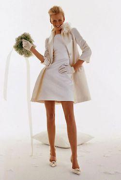 60's wedding dress idea: Coffee and fashion magazines