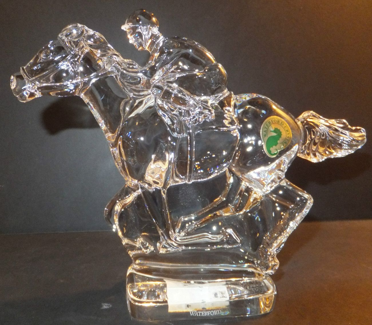 Wedding Gift Registry Ireland: Waterford Crystal Horse And Jockey Statue New Made In