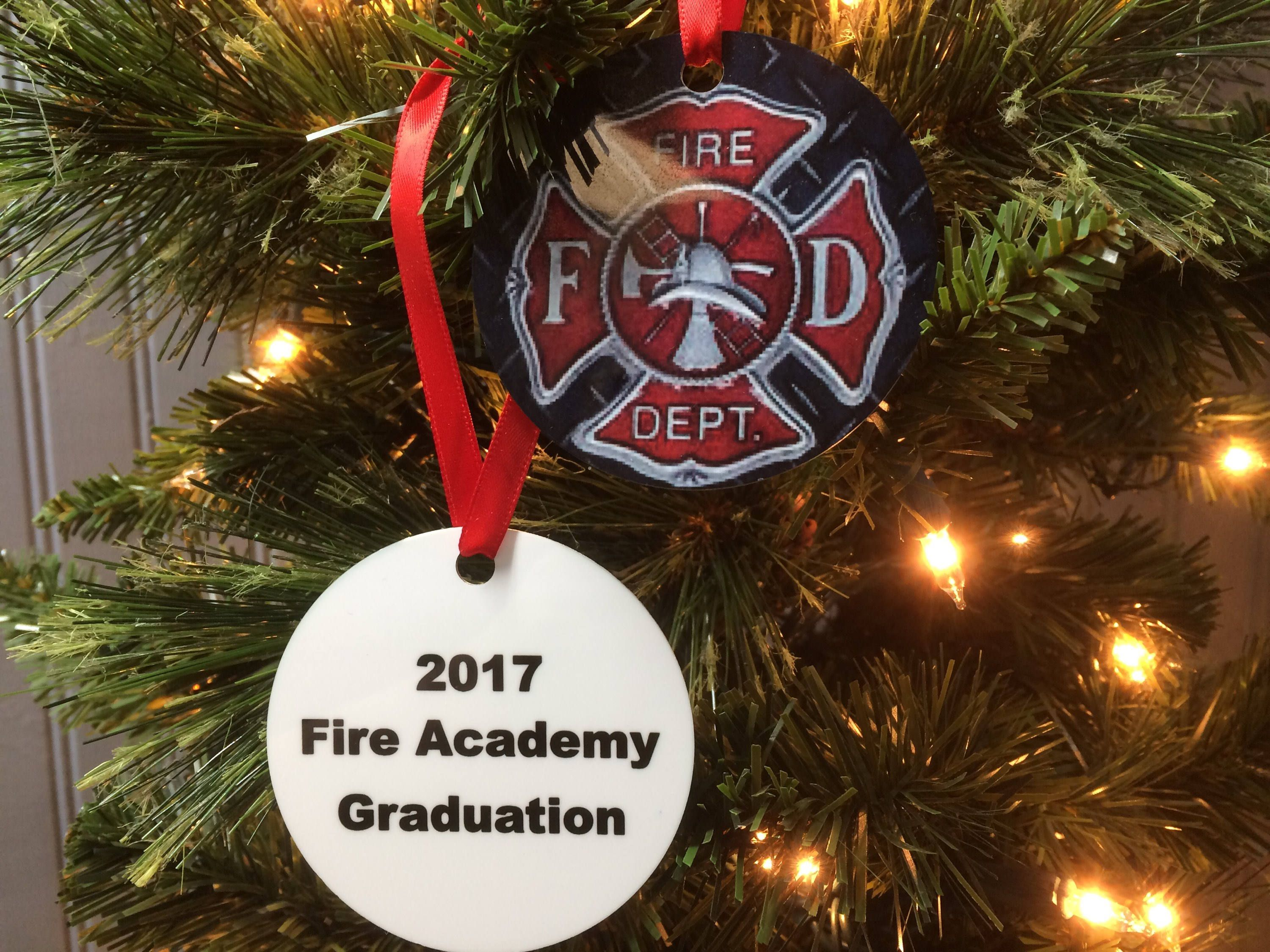 fire academy graduation gift personalized text ornament for firemen firefighter maltese cross present christmas bulk orders welcome