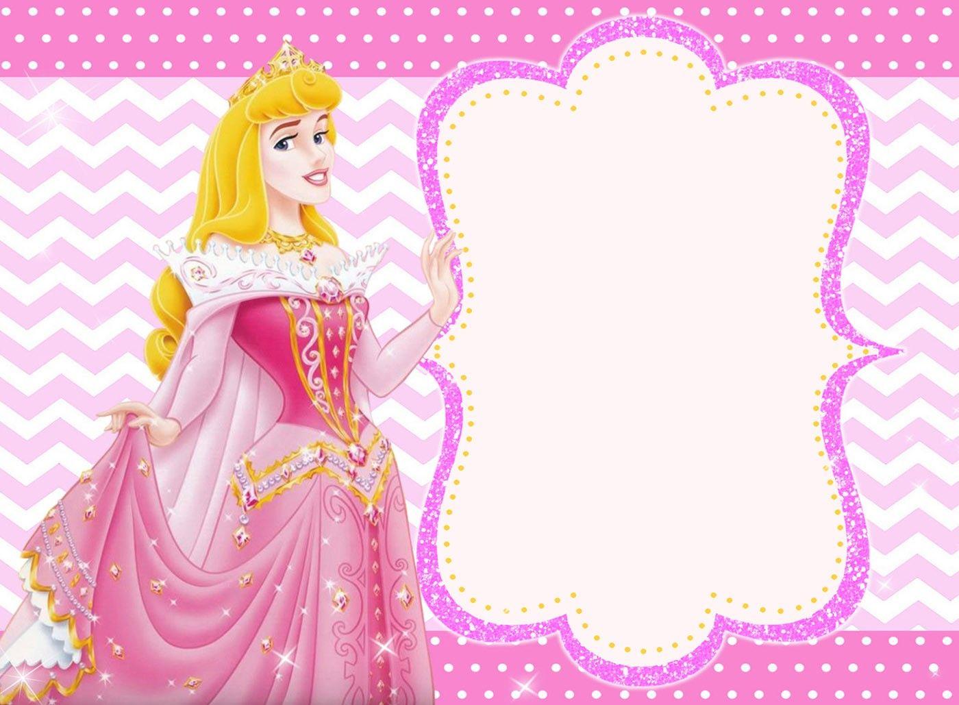 Princess Invitation Card   Invitaciones de princesa ...