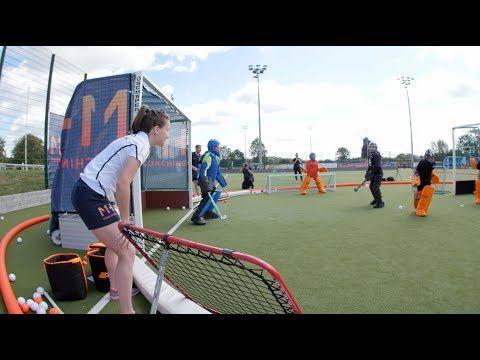 Field Hockey Goalie Beginner Dive Drill Youtube Field Hockey Goalie Hockey Training Feild Hockey