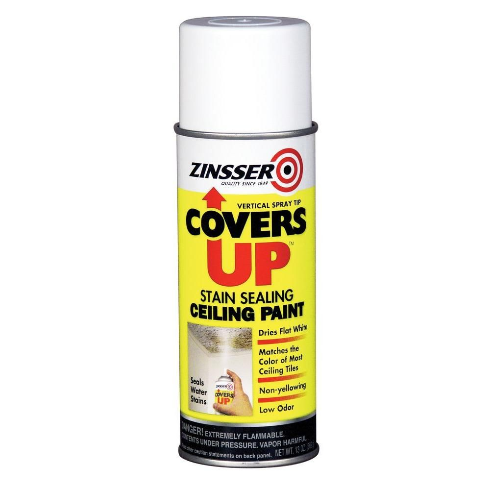 Zinsser Covers Up 13 Oz White Ceiling Spray Paint Primer In One 6 Pack 3688 Painted Ceiling Best Ceiling Paint Removing Popcorn Ceiling