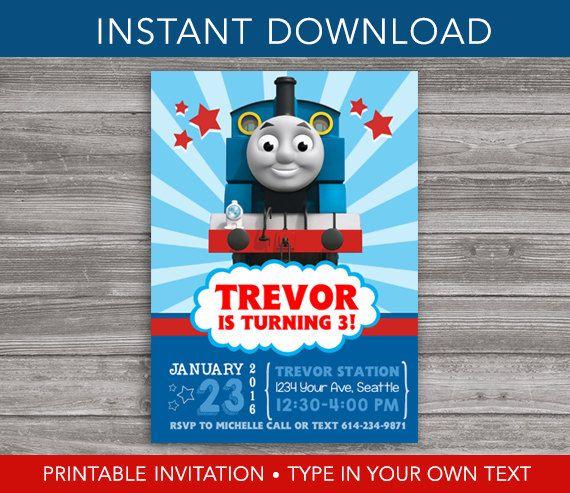 thomas the train invitation instant