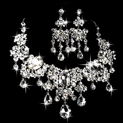 Easy-South-Life Elegant Crystal Bridal Jewelry Sets Women Wedding Jewelry Crystal Necklace Earrings Easysouthlife http://www.amazon.com/dp/B010FWQIV2/ref=cm_sw_r_pi_dp_-3dfxb00KPN54