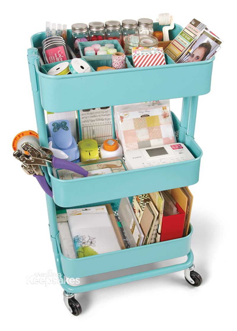 10 Ways To Organize Your Rolling Cart Happily Ever After Etc Craft Room Organization Room Organization Craft Room Office
