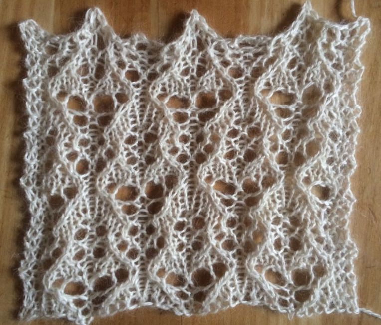 Attractive Free Lace Knitting Patterns Elaboration - Easy Scarf ...