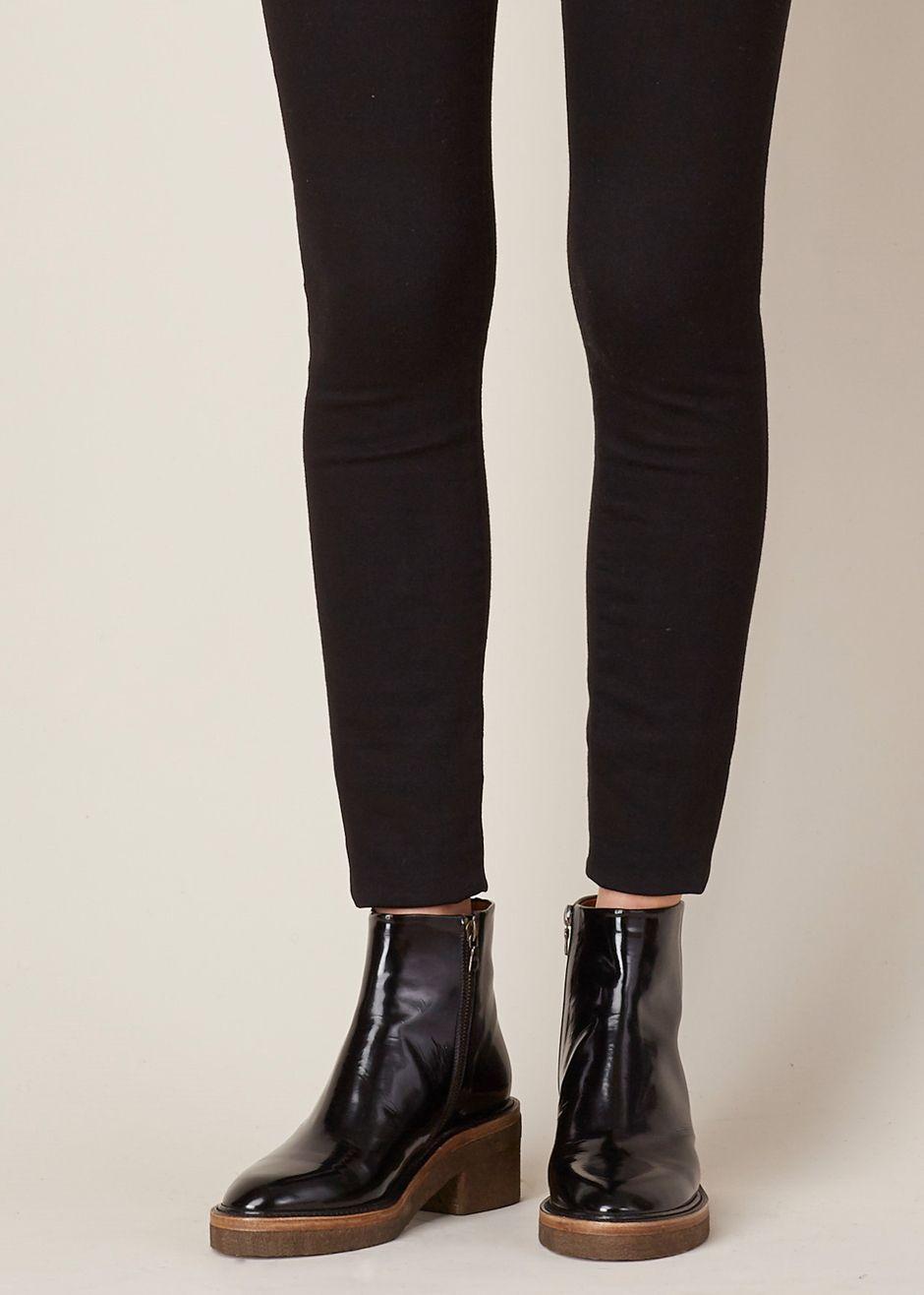 b95a51cb527 Dries Van Noten Chunky Heel Zip Boot (Gloss Black)