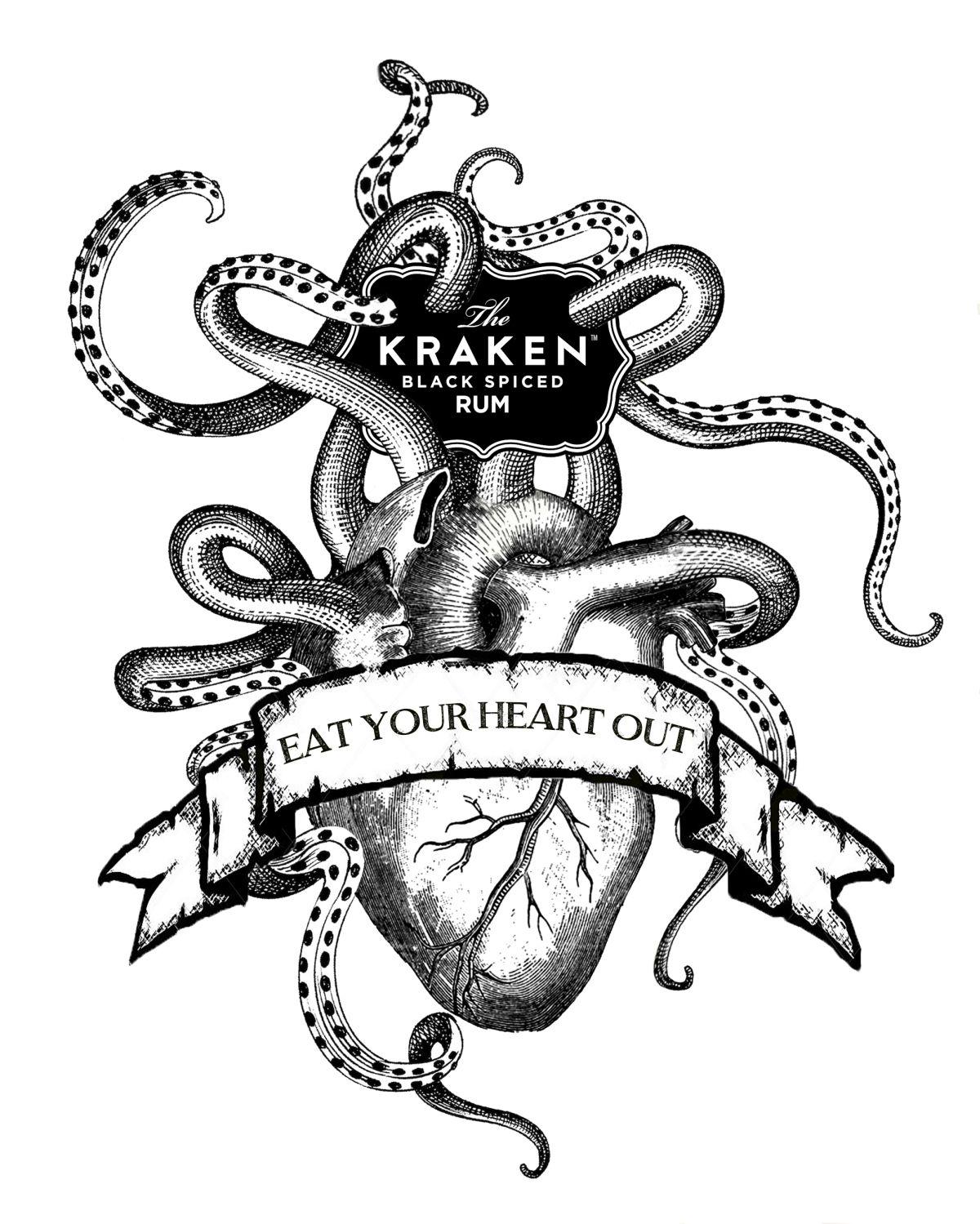 KRAKEN_HEART_FINAL   S.r Mallik Lc   Pinterest   Oktopus, Krake und ...