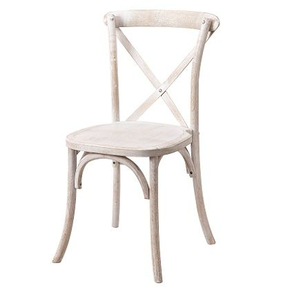 White Wash Vineyard Crossback French Country Chairs Chair White Wash