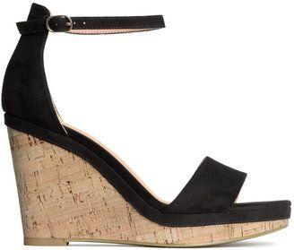 12ebf0ea913 H&M - Wedge-heel Sandals - Black - Ladies #wedge | Wedges | Wedge ...