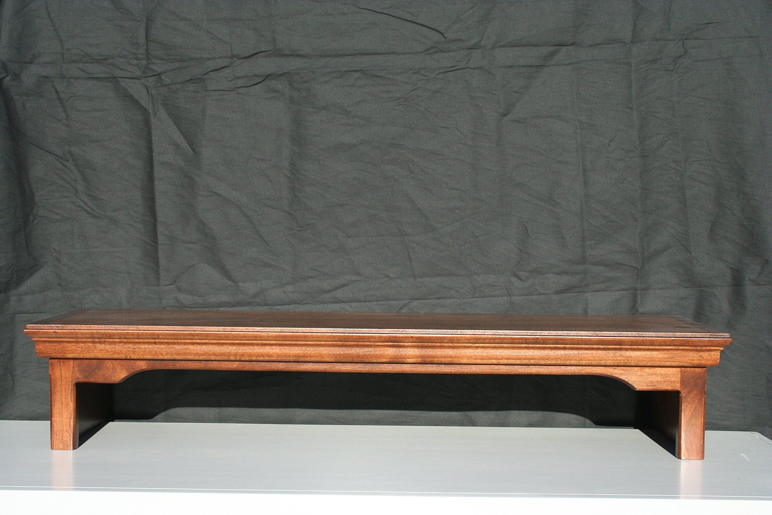 Framing A Tv Tv Monitor Riser Stand Traditional Style In Alder Wood 26 Wide