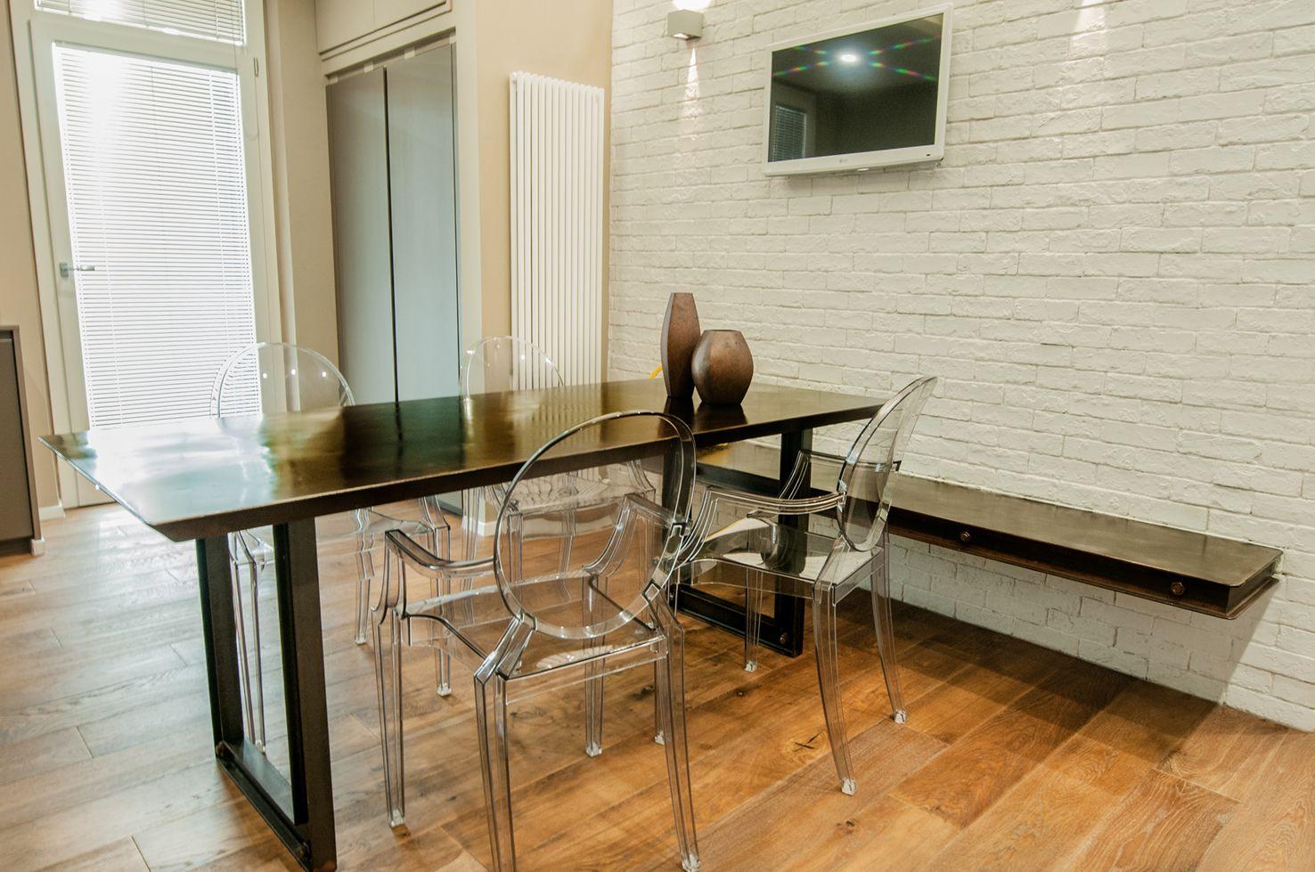 Tavolo e panca da cucina in acciaio corten | TAVOLI | Pinterest