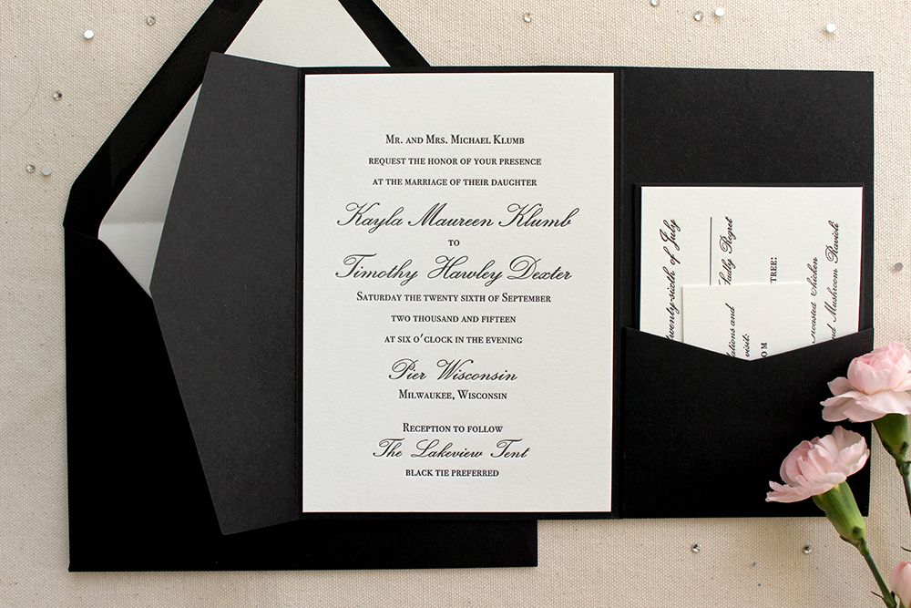 Orchid Suite Classic Letterpress Printed Wedding Invitations