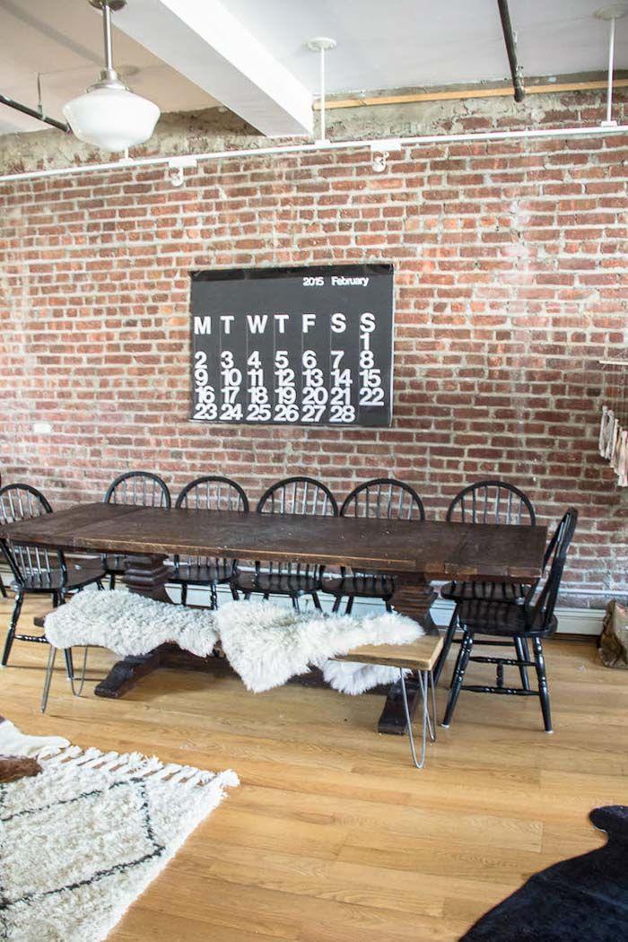Un loft industriel boh me brooklyn salle manger dining room pinterest loft - Salle a manger loft ...
