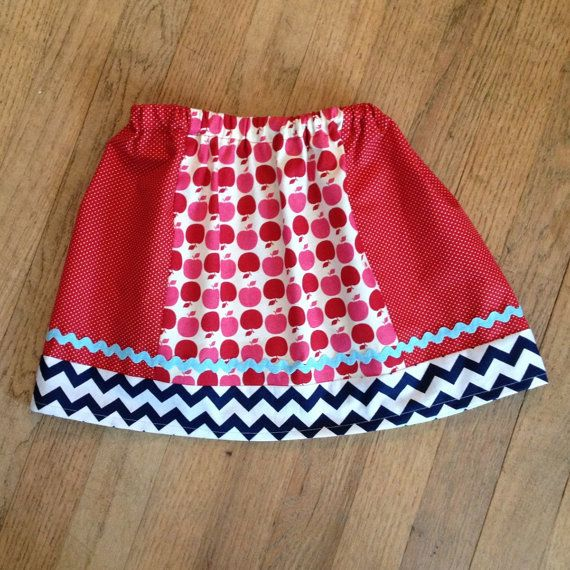 Girl's Skirt  Red White Polka Dot / by SmockingbirdApparel on Etsy, $24.00