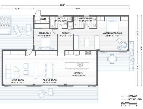 Blu Homes Glidehouse floorplan 2 bedroom - this could easily be done with containers!