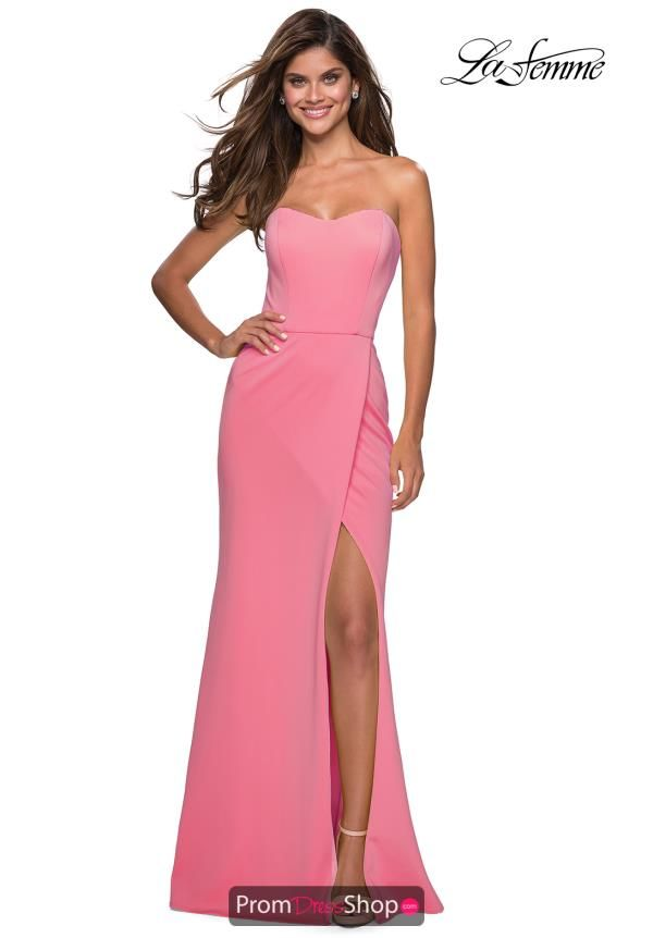 e43a7119452 Be the main center of attention with mesmerizing prom dress 27335 by La  Femme which makes an excellent choice for your upcoming social occasion.