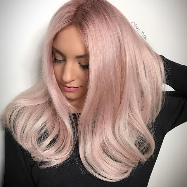 Hairbesties New Shade Alert Here Is The 5 Minute Blush Xpress Toner In Guytang Mydentity I Used It As A Pink Blonde Hair Blonde Hair Color Light Pink Hair