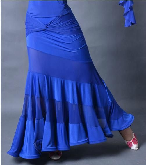 Dance ballroom dancing modern dance cross hip slim slanting stripe mosaic practice skirt s12071