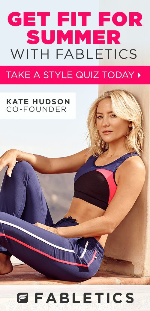 Fabletics by Kate Hudson. Where Fitness Meets Fashion. Get Your First Activewear Outfit From Only £20! Take Our Quick LifeStyle Quiz to Discover Workout Outfits and For This Exclusive Offer!