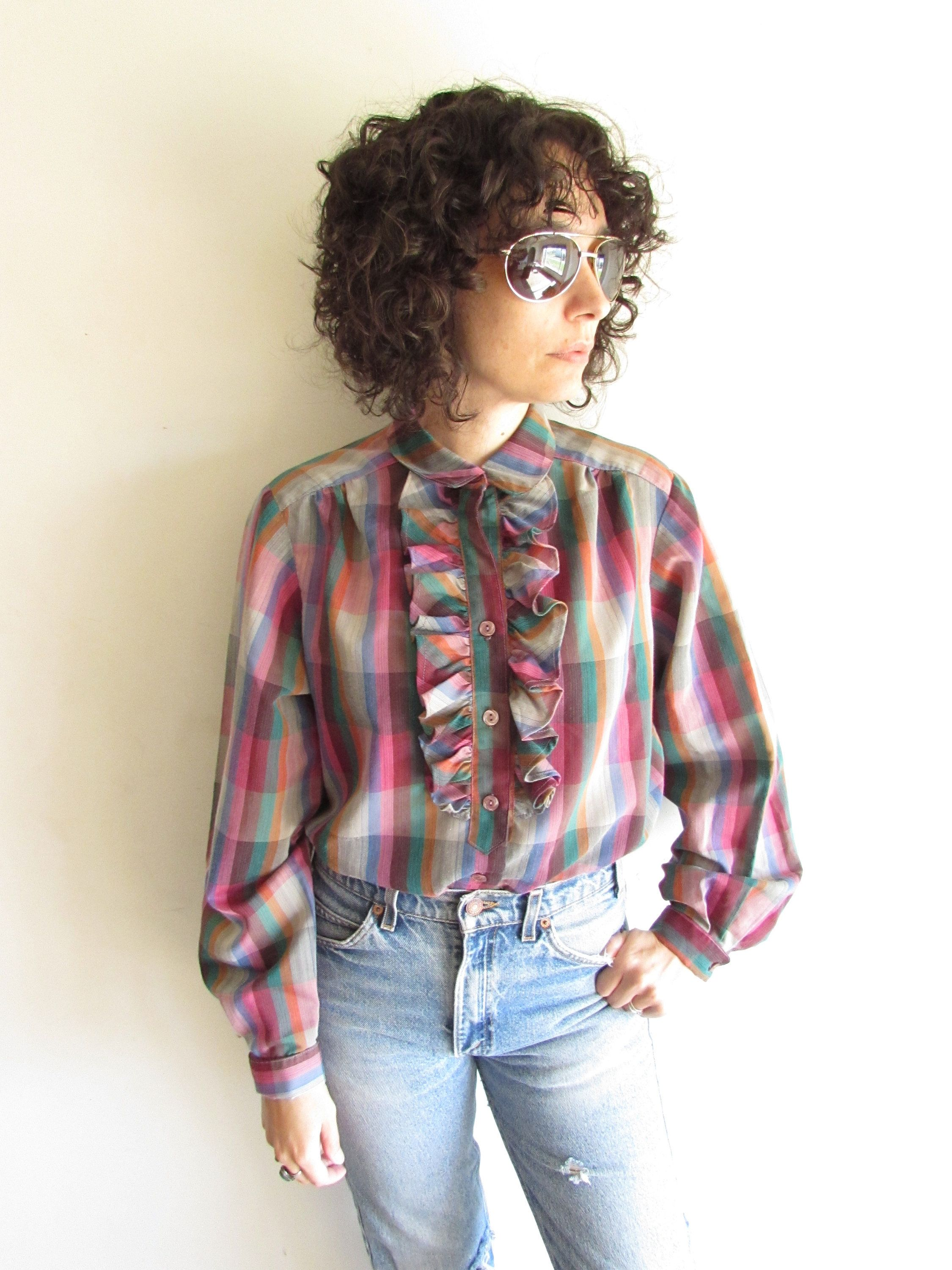 Blouse 70s colorful