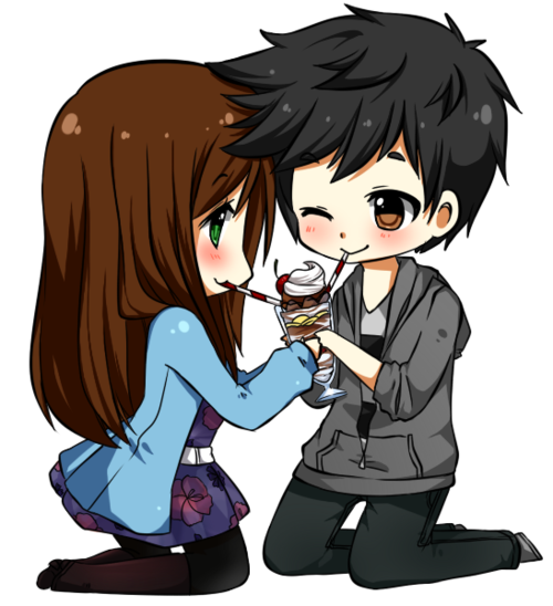 Imgs For > Cute Chibi Couple Holding Hands Chibi couple