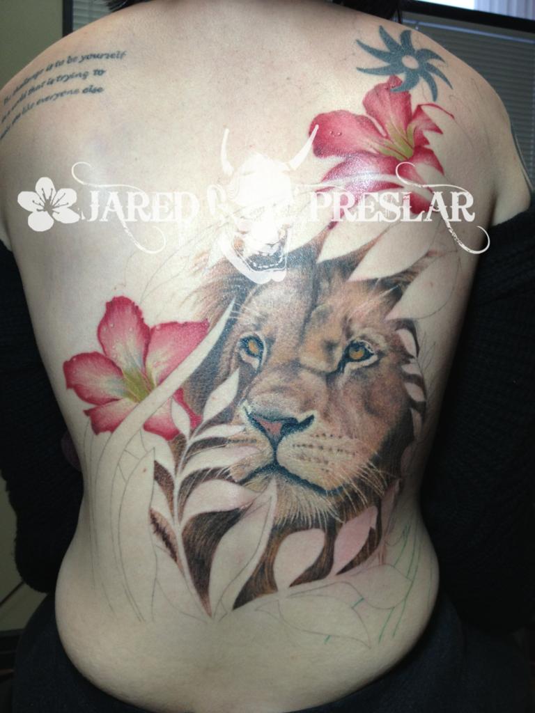 Jared Preslar Lucky Bamboo Tattoo Ink D Tattoos Lion Tattoo