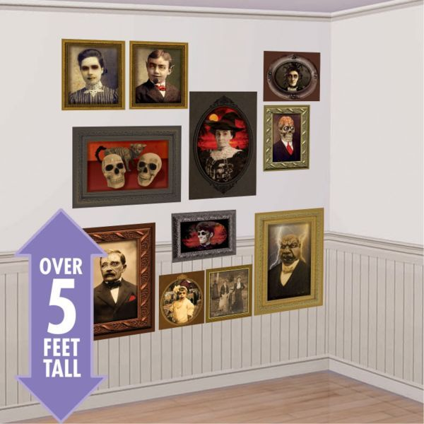 Gothic Mansion Portraits Scene Setters 5ft Backdrop Haunted House - halloween scene setters decorations