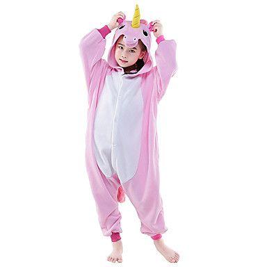 46e26e1a56 Niños Unicornio Kigurumi Pijamas Caballo Leotardo Pijama Mono Festival Celebración  Ropa de Noche de