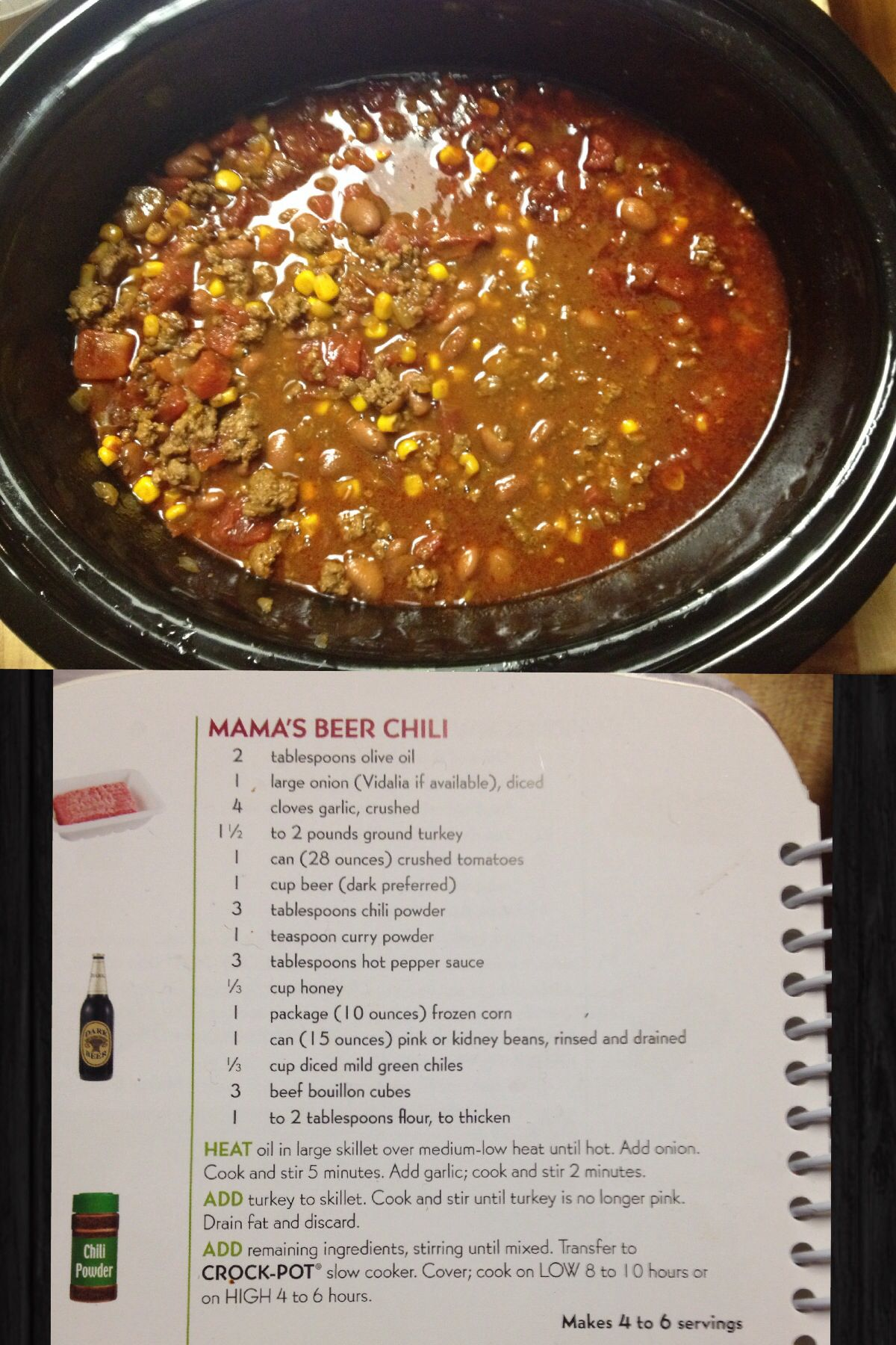 Mama S Beer Chili Just Fyi Best Chili Ever Use Less Spice Though Beef Recipes Stuffed Peppers Yummy Dinners