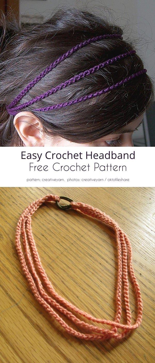 Summer Crochet Headband Free Patterns