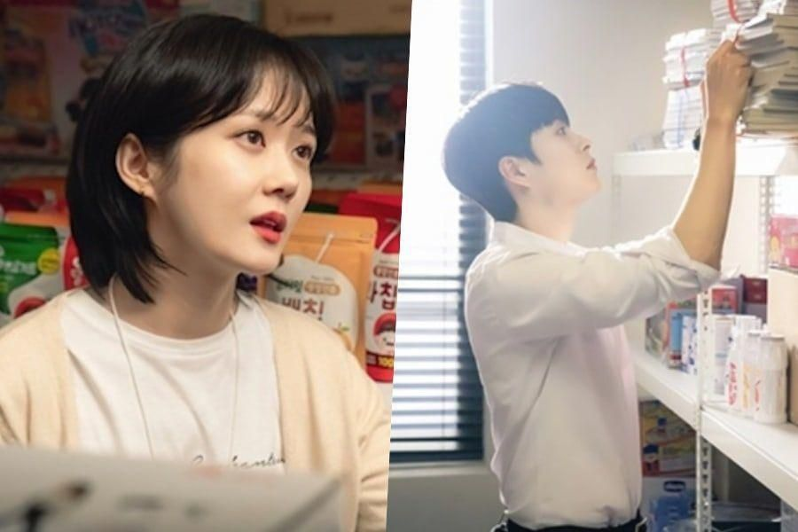 "Jang Nara Can't Take Her Eyes Off Jung Gun Joo In ""Oh My Baby"""