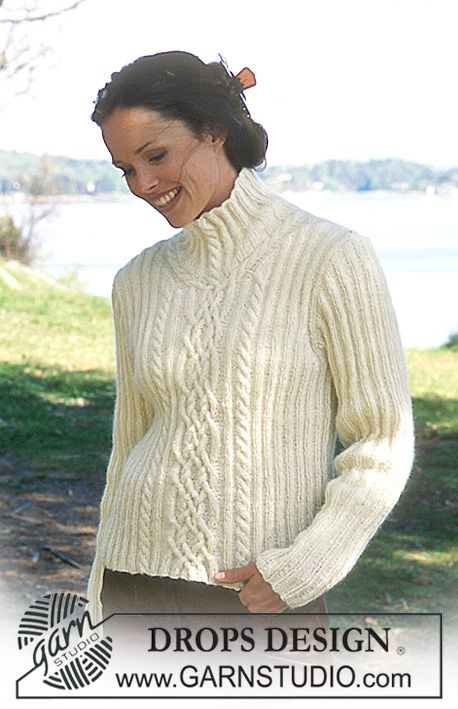 DROPS Pullover in Angora-Tweed ~ DROPS Design | knitting patterns ...