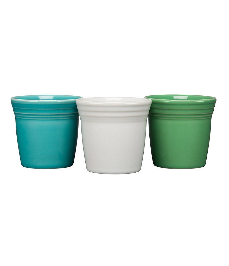 Fiesta Dinnerware Introduces 2019 Flower Pot Set Of 3 The Cool Set Features Fiesta Colors Turquoise White And Me Flower Pots Pot Sets Flower Pots Outdoor