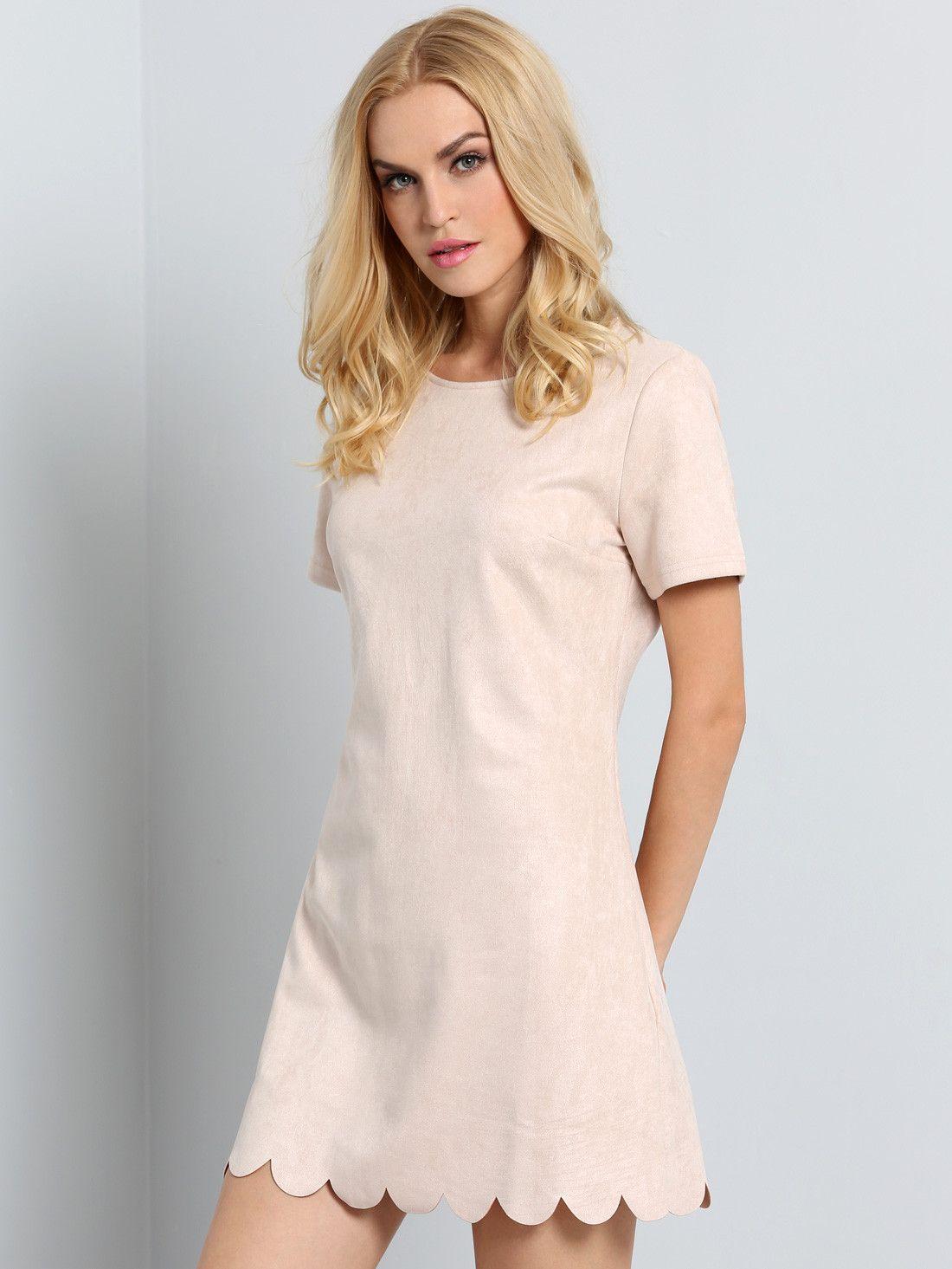Apricot short sleeve ruffle dress my style pinterest ruffle