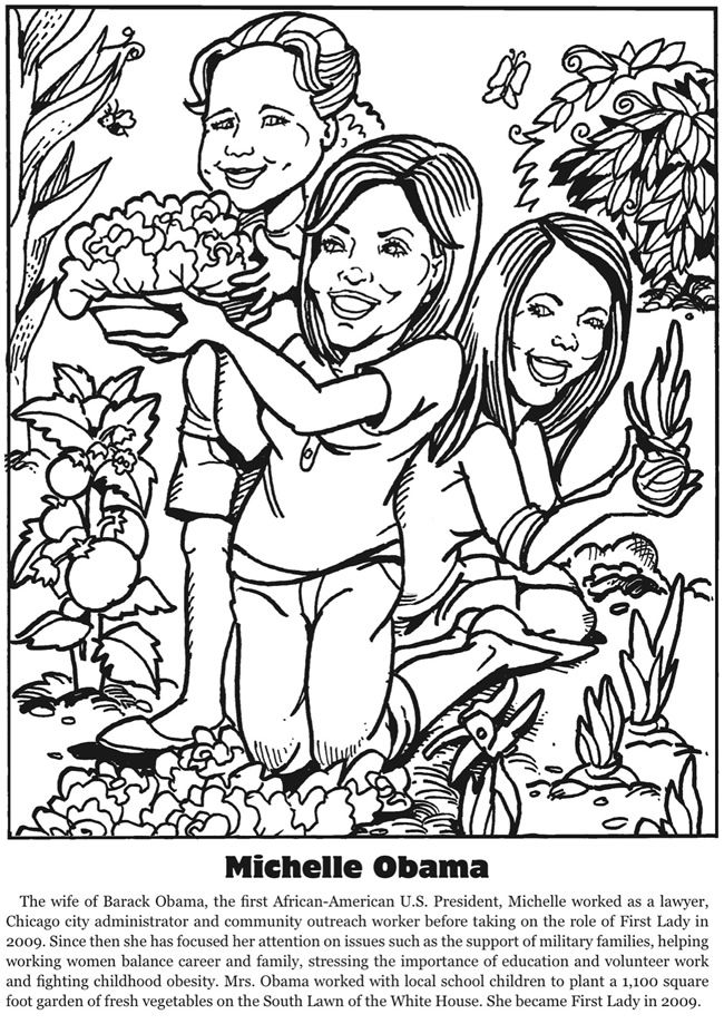 First Ladies Fascinating Facts Coloring Book Dover Publications ...