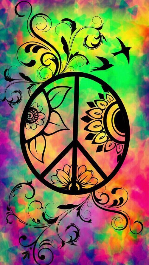 Image Result For Peace Sign With Flower Background Tattoos