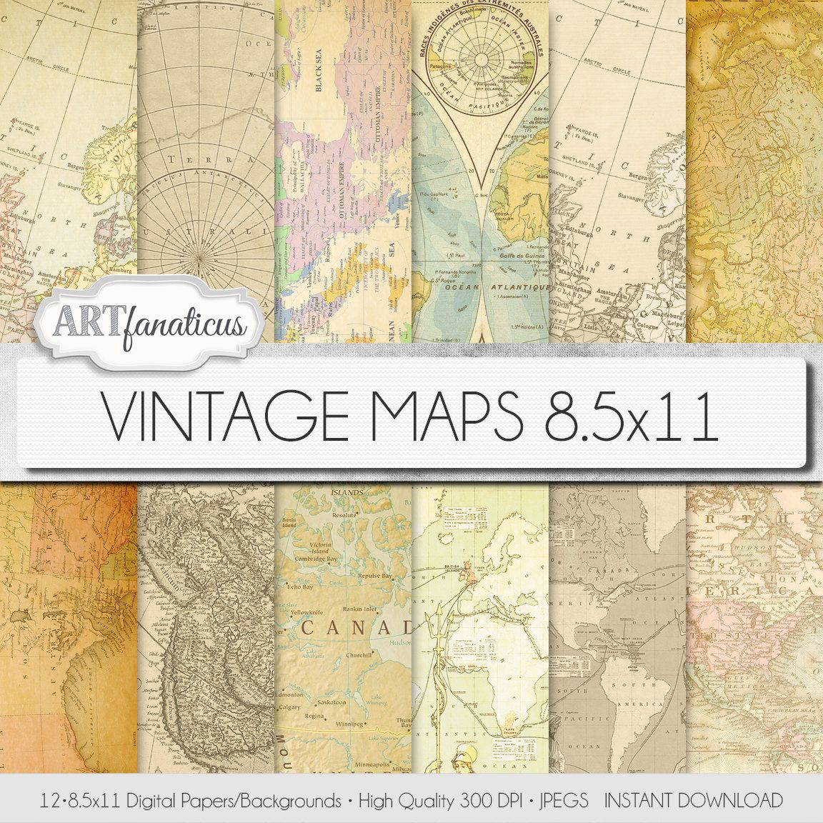 Vintage maps 85x11 digital paper vintage maps backgrounds shop the latest paper world map products from scroll forever officebiz boxcolors beijing supply and more on wanelo the worlds biggest shopping mall gumiabroncs Image collections