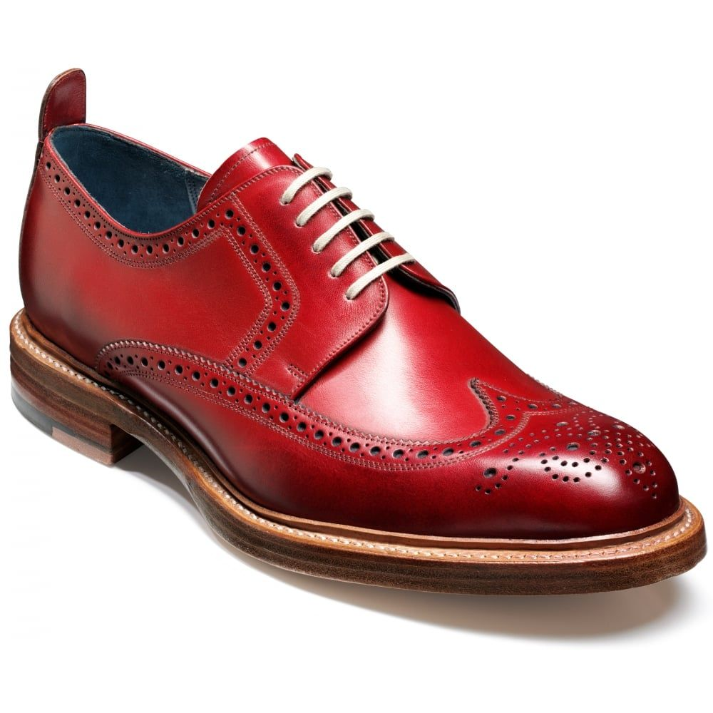 Barker Mens Bailey Red Brogue Lace-Up Shoe Marshall Shoes  9b70a515b8ec