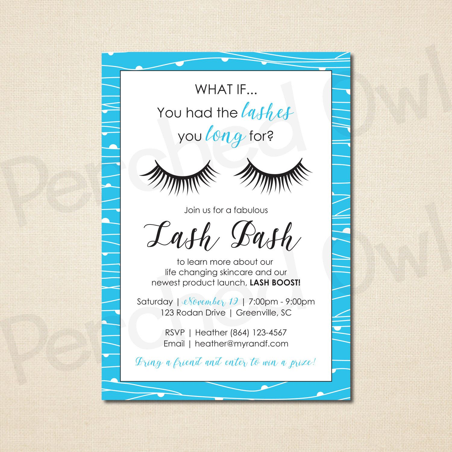 Lash Bash Invitation - Direct Selling - Business Launch Party ...