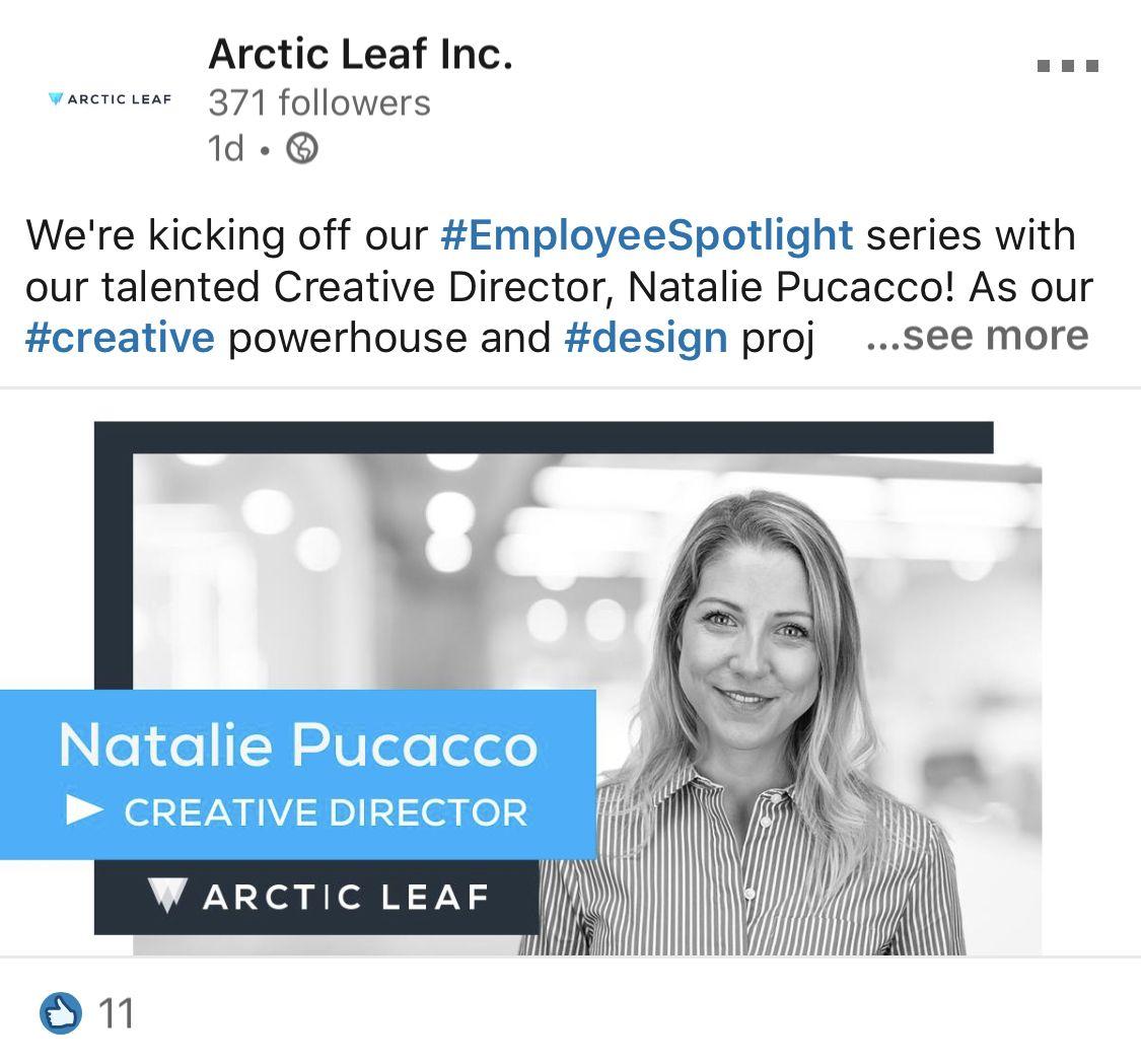 Employee Spotlight Social Media Post Inspiration Linkedin Ad Social Media Post Effective Ads