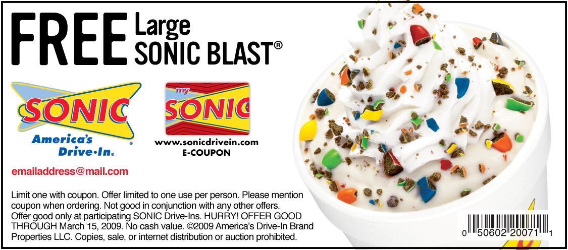 photo relating to Sonic Printable Coupon identified as Sonic Determination within Printable Coupon codes Sonic Determination within just Coupon codes