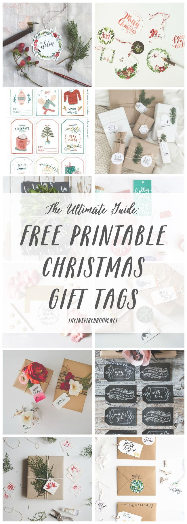 The Ultimate Guide: FREE Printable Christmas Gift Tags | Pinterest ...