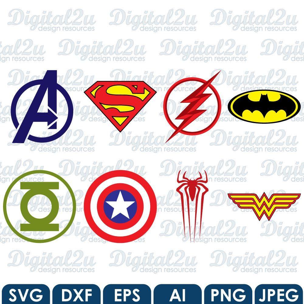 superhero logos cricut silhouette superman captain