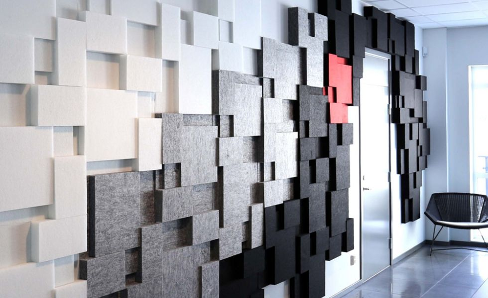 Niva Sound Absorbing Wall And Ceiling Panels Akustikmiljo Sound Absorbing Ceiling Panels Acoustic Wall