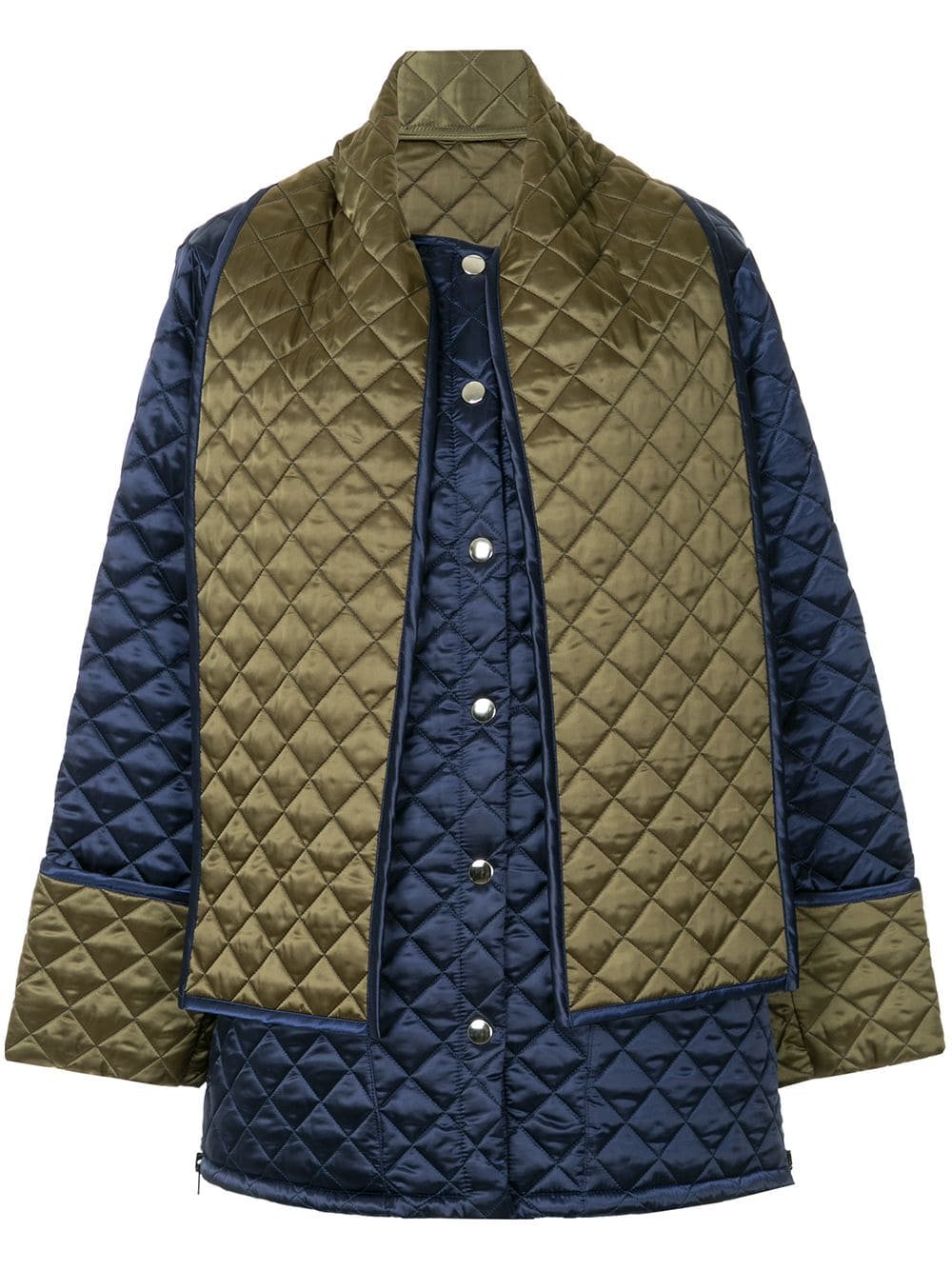 MSGM back print quilted jacket Blue | Quilted jacket