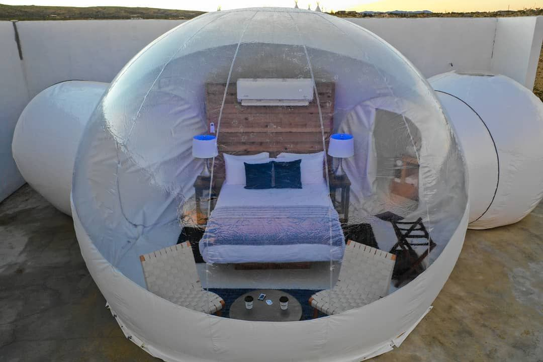 The basecamp bubbles at Basecamp Terlingua are America's