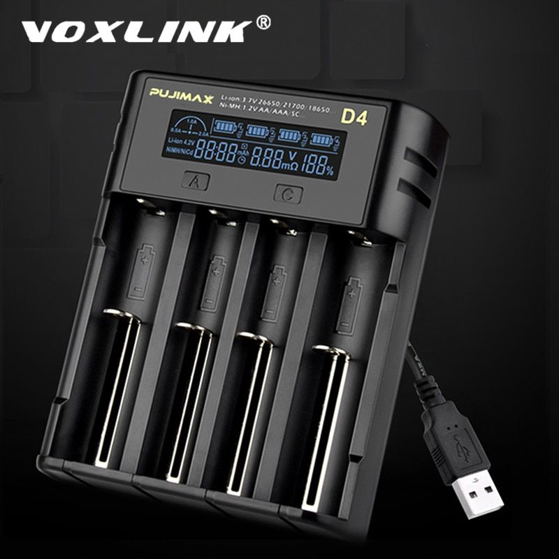 Efan Lux S4 Touch Screen Lcd Battery Charger 18650 Battery Store Battery Charger Charger Touch Screen