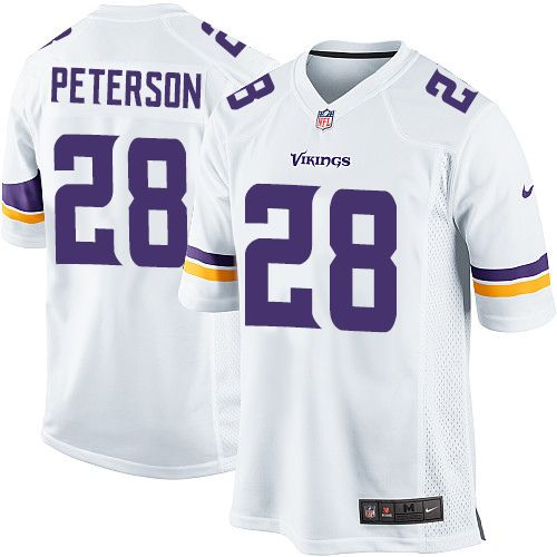 198a9eb5f Nike Limited Adrian Peterson White Youth Jersey - Minnesota Vikings  28 NFL  Road