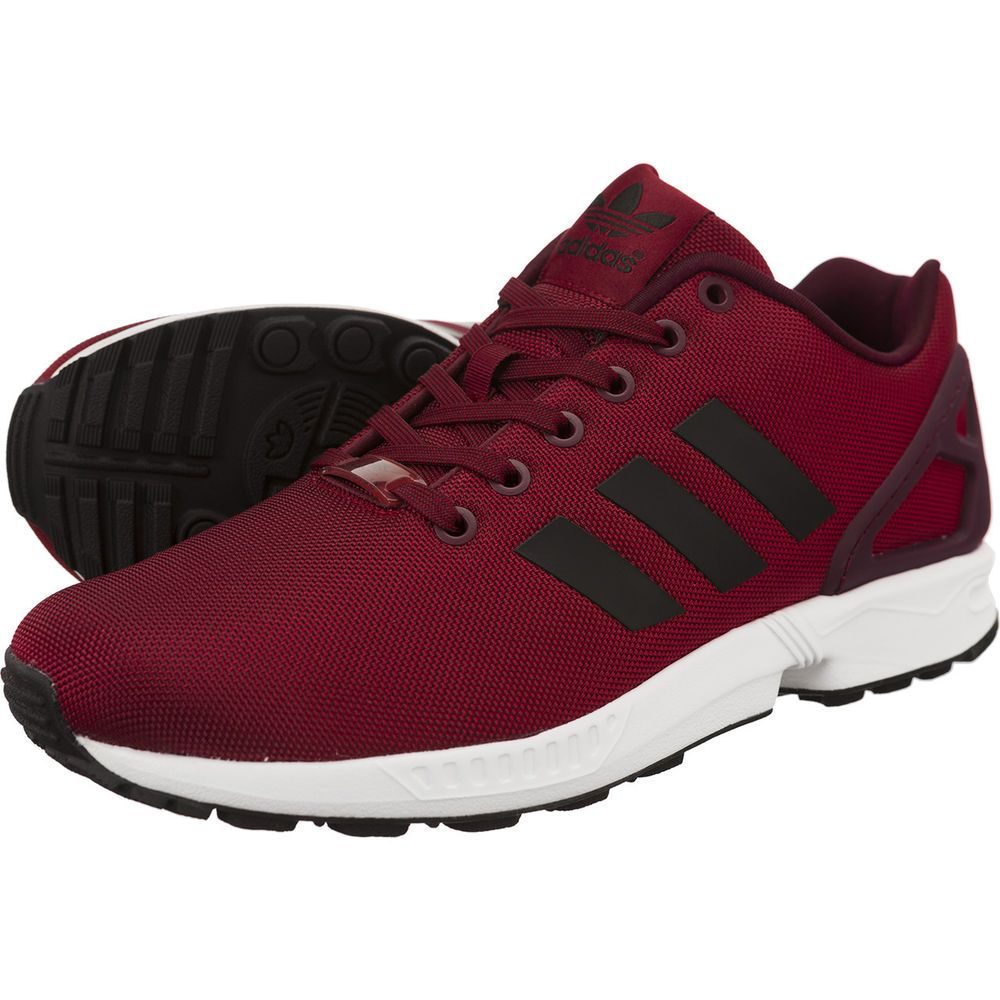 4ddf88818 Adidas Originals ZX Flux Torsion Burgundy Wine Red Mens Sizes 6 to 11 NEW |  eBay